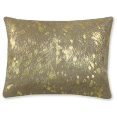 Solid Pillow With Metallic Gold Pillow Cover (155 CAD)