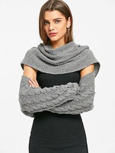 SHARE & Get it FREE | Cable Knit Convertible Sweater - Deep GrayFor Fashion Lovers only:80,000+ Items • New Arrivals Daily Join Zaful: Get YOUR $50 NOW!