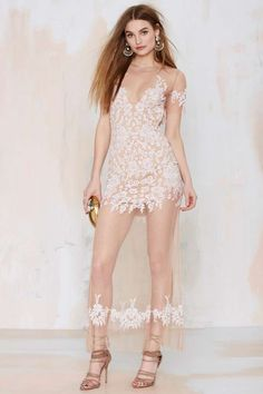 For Love and Lemons Luau Lace Maxi Dress