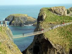 Carrick-a-rede Bridge, Northern Ireland...I have walked this rope bridge many times!!!