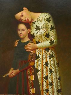 """Genealogy""                                             Andrey Remnev, 2009    Oil on canvas."