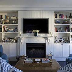 Built In Cabinets, Cottage, living room, Denai Kulcsar Interiors