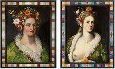 MIND THE ART: Giuseppe Arcimboldo. Dos pinturas de Flora.