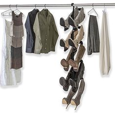 The #1 Rated Boot Rack on Amazon. Boot Butler 5-Pair Boot Hanger & Organizer Chrome/Black - Space-saving storage organizer. Hangs from your closet rod - it's a boot tree, shaper & holder in one. Boot Butler http://smile.amazon.com/dp/B00IFQWK04/ref=cm_sw_r_pi_dp_eaXKwb166XYYW
