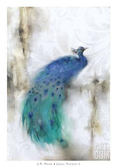 Jewel Plumes I Art Print by J.P. Prior at Art.co.uk