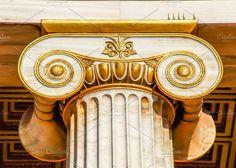 capital of Ionian column, light HDR by Elgreko on @creativemarket
