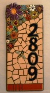 This is an interesting mosaic for your house number.