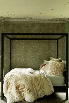 world's most gorgeous bedding I've ever seen. Georgiana duvet, euro sham, bed skirt. Cream or white.