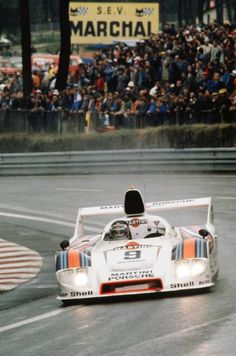 Porsche Type 908 at Le Mans in 1980, racing driver Jacky Ickx and Reinhold Joest, 2nd place
