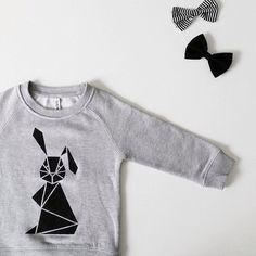 Kids Sweater Jumper rabbit van inkibabinki op Etsy