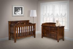 Amish West Lake Six Drawer Dresser with Optional Mitered Drawer Fronts