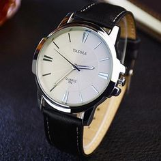 Classic Business Quartz-Watch For Men Casual Watches, Cool Watches, Watches For Men, Stylish Watches, Women's Watches, Watches Online, Popular Watches, Elegant Watches, Fashion Watches