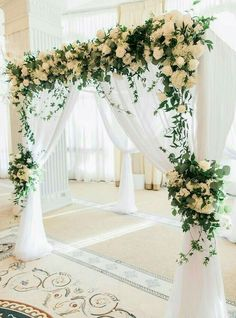 Choosing The Flower Arrangements For Church Wedding Wedding Ceremony Arch, Wedding Scene, Wedding Flowers, Wedding Bride, Indoor Ceremony, Wedding Mandap, Ceremony Backdrop, Wedding Receptions, Wedding Poses