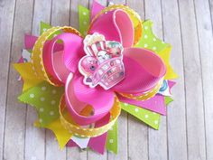 Shopkins hair bow Boutique Hair Bow Shopkins party by OLIKA25