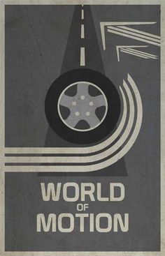 World of Motion - Walt Disney's EPCOT retro poster (1983)
