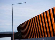 Highway Noise Walls as Landscape Art - Eastlink Freeway, Melbourne, Australia