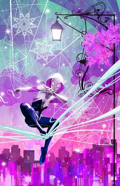 Spider-Gwen by Sean Anderson * Spiderman And Gwen, Marvel Spider Gwen, Spiderman Spider, Amazing Spiderman, Gwen Stacy, Univers Marvel, Marvel Art, Marvel Heroes, Lego Marvel