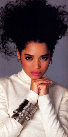 'Memba Lisa Bonet back in the day?   Photographed by Francesco Scavullo for Harper's Bazaar, September 1986. Clothing by Michael Kors.