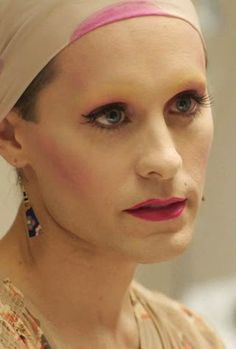 Jared Leto as Rayon in Dallas Buyers Club; simply amazing & moving acting.