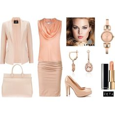 Business Outfit In Soft Colors by zeta2013 on Polyvore