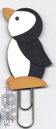Stampin' Up Penguin Punch Art Bookmark Kit by iluvstampinup, $4.00
