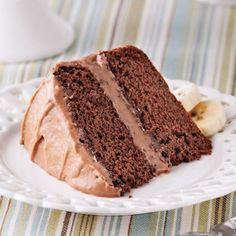 Gâteau choco-banane - Recettes - Cuisine et nutrition - Pratico Pratique Glaze For Cake, Different Recipes, Nutella, Chocolate Cake, Tiramisu, Banana Bread, Biscuits, Deserts, Favorite Recipes