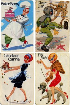 Vintage Old Maid cards. Fifi Fluff was my idol! My Childhood Memories, Childhood Toys, Great Memories, Childhood Friends, Retro Toys, Vintage Toys 80s, Vintage Dolls, I Remember When, Vintage Games