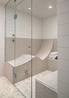 steam shower too large but like the seating