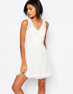 Vero+Moda+Lace+Skater+Dress