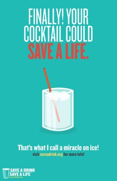 Saying farewell to that yummy cocktail over Lent? Why not make the fast even more meaningful by using the money you save to provide clean water for someone in Africa? Visit saveadrink.org to find out how.
