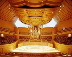 Walt Disney Concert Hall auditorium unexpected Frank Gehry Acoustics are remarkable