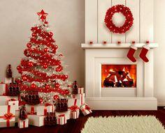 Interesting Red Christmas Tree