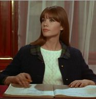 """la belle Francoise Hardy played the role of receptionist to Peter Sellers the mad psychiatrist of """"What's New Pussycat?"""" the Richard Donner- Woody Allen film of 1965."""