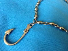 Fishing Necklace Barrel Swivel Hook Stainless by ZsquareDesigns