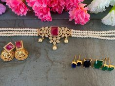 Must Have Classy Choker Collections! • South India Jewels Choker Necklace Online, Beaded Choker, Indian Jewelry Earrings, Jewellery, Gold Mangalsutra Designs, South India, Necklace Designs, Wedding Jewelry, Jewelry Collection