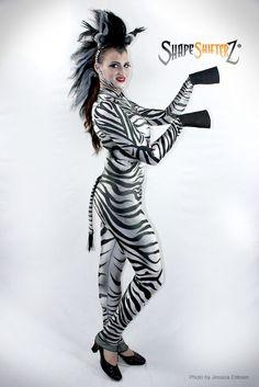Women's ShapeShifterZ® 'ZEBRA' Bodysuit - sportswear/costume