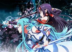 Anime Sword Art Online II Yuuki Konno Asuna Yuuki Sword Elf Wallpaper