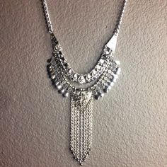 Statement necklace Beautiful silver colored boho statement necklace. NWOT Jewelry Necklaces
