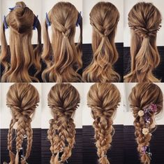 Variation of the comfortable hair arrangement, even if there are several. self frisuren haare hair hair long hair short Everyday Hairstyles, Long Hairstyles, Wedding Hairstyles, Updos Hairstyle, Brunette Hairstyles, Bouffant Hairstyles, Simple Hairstyles, Mermaid Hairstyles, Barbie Hairstyle