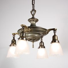Other People S Victorian Light Fixtures Pan Showing The Gl Shades Or Ers Art Nouveau Design Br Chandelier Antique