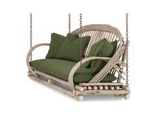 """7 Reasons to Love a Rustic Loveseat"" - #7 Porchswing #1091 by La Lune Collection"