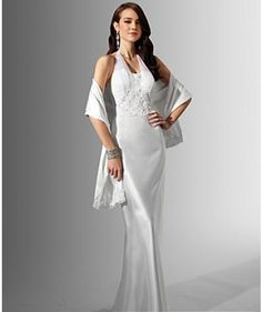 A Line Princess Halter Top Chapel Train  wedding dress (WS0053)