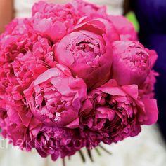 love - Dark Pink Peonies Bridal Bouquet!