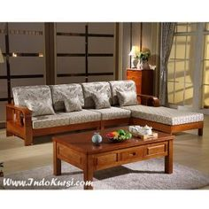 Gorgeous Furniture Design Wooden Sofa for Your Living Rooms - Sofa Table Design, Living Room Sofa Design, Living Room Designs, Living Rooms, Diy Furniture Couch, Furniture Design, Wooden Furniture, Sala Set, Wooden Sofa Set Designs