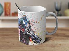 Soldier 76 Overwatch Mug Overwatch Coffee Mug Color Changing Mug Magic Mug OV-3 #Handmade