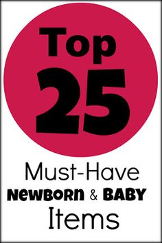 Save your sanity during the newborn phase of motherhood by making sure that you are prepared with these 25 must-have newborn baby items and products.  I am willing to put my reputation on the line here and say that these baby products are the most practical, easy-to-use and convenient newborn baby products out there (especially the Leachco Podster Infant Seat Lounger)...