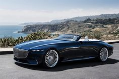 Mercedes has unveiled a new cabriolet all-electric concept as part of its 'Vision' design series at the Monterey Car Week. The 'Vision Mercedes-Maybach 6 Cabriolet' is Daim… Mercedes Benz Maybach, Mercedes 600, Bugatti, Maserati, Ferrari, Audi, Design Transport, Rolls Royce, Mercedez Benz