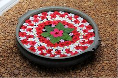Latest Flower Rangoli Designs Images, Wallpaper, Video for This Diwali Rangoli Designs Flower, Rangoli Ideas, Rangoli Designs Images, Rangoli Designs Diwali, Flower Rangoli, Flower Mandala, Flower Designs, Diwali Decorations At Home, Festival Decorations