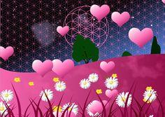 Nacht, Blume des Leben, Rosa, Herzen und Boden Desserts, Pink Hearts, Flower Of Life, Night, Boden, Tailgate Desserts, Deserts, Postres, Dessert