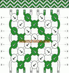 Normal Friendship Bracelet Pattern added by missyuki. Bracelet Fil, Bracelet Knots, Thread Bracelets, Macrame Bracelets, Diy Schmuck, Schmuck Design, Craft Cupboard, Diy Friendship Bracelets Patterns, Friendship Bracelet Patterns